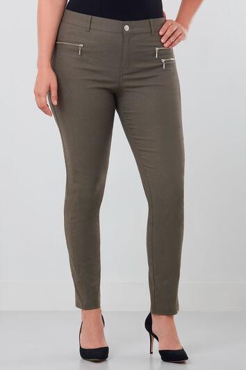 Pantalon avec fermeture Éclair