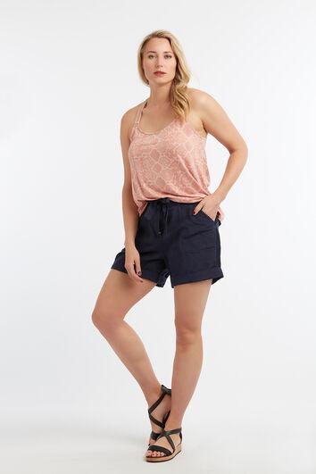 Shorts en lin mélangé