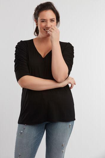 T-shirt avec manches plissées