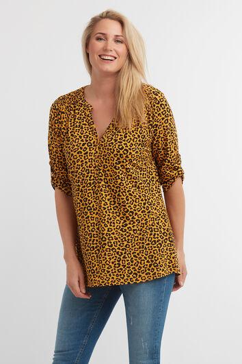 Haut à imprimé léopard
