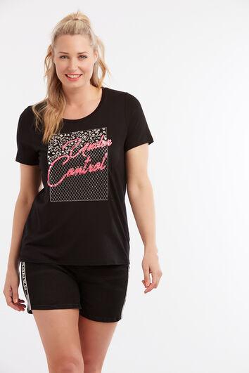 T-shirt avec strass et broderie