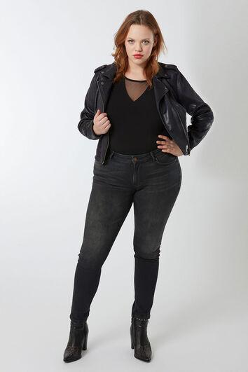 Jeans skinny coupe O noir