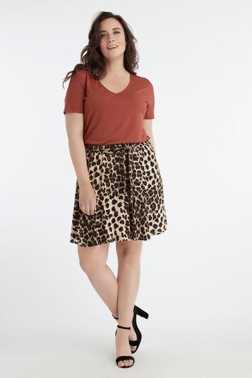 Jupe-short à ceinture nouée