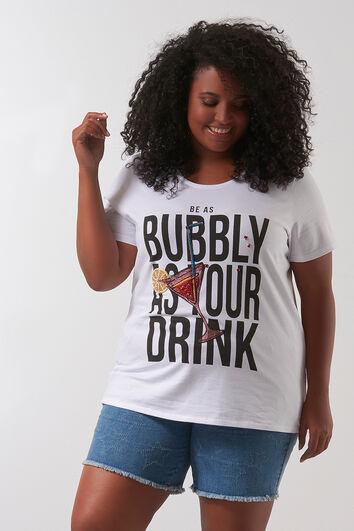 T-shirt avec imprimé et perles