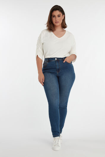 Skinny leg high waist CHERRY jeans