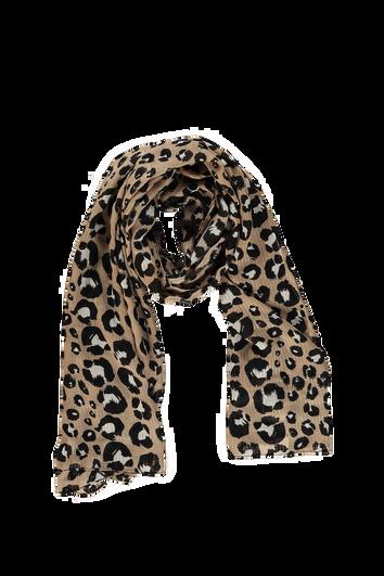Foulard léger à imprimé léopard