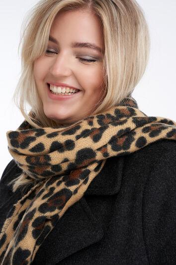 Écharpe à imprimé léopard