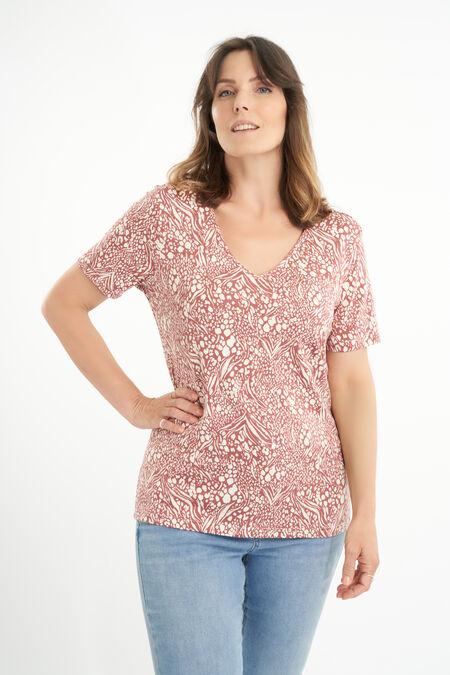 T-shirt avec col en V