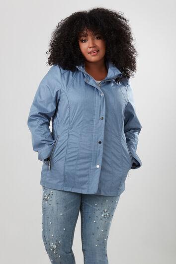 Manteau mi-saison avec capuche amovible