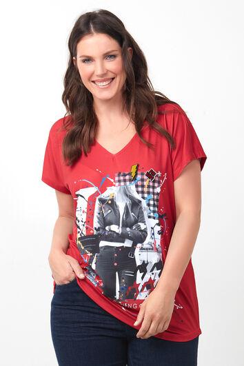 T-shirt à application imprimée