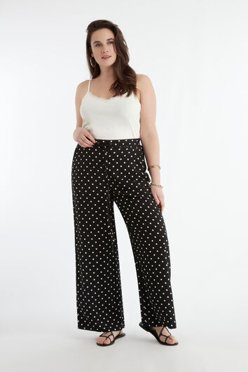 Pantalon large à pois