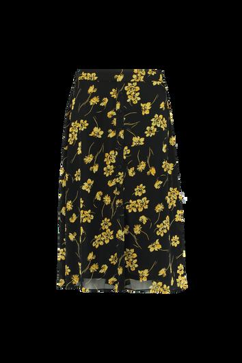Jupe florale avec boutons