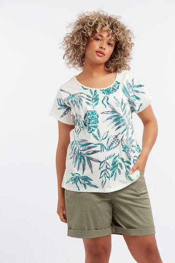 Tee-shirt avec imprimé effet aluminium