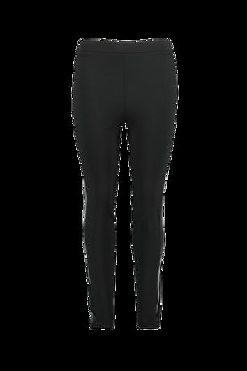 Leggings avec similicuir rayure sportive