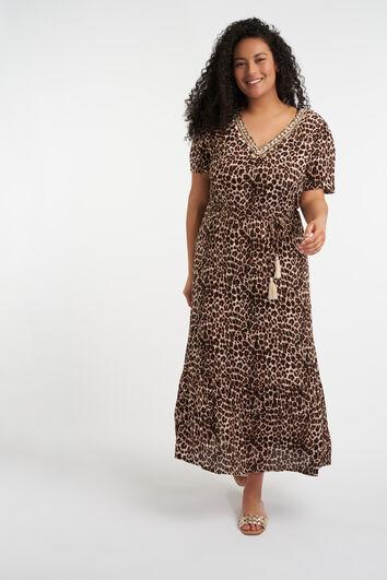 Robe longue à imprimé léopard