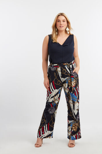 Pantalons amples à imprimé