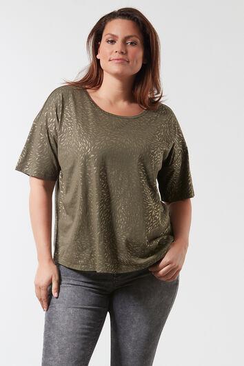 T-shirt avec imprimé scintillant