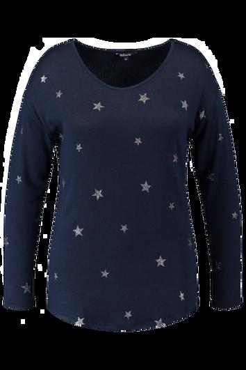 Haut tricoté fin avec étoiles