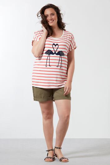 T-shirt avec imprimé rayé