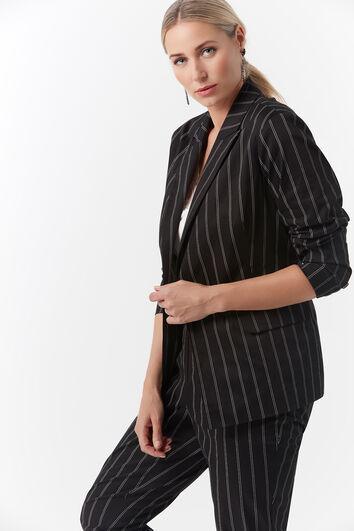 Veste blazer à fines rayures