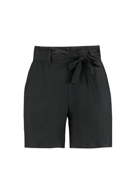 Short en viscose avec ceinture