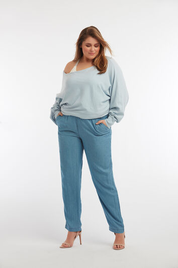 Pantalon coupe ample en Tencel