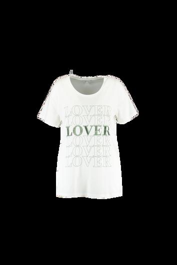 T-shirt avec texte et perles