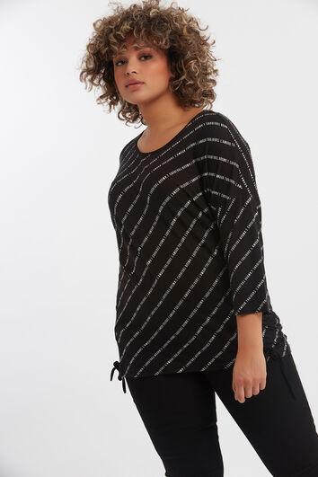 T-shirt avec texte imprimé et lacets