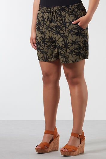 Short imprimé en viscose