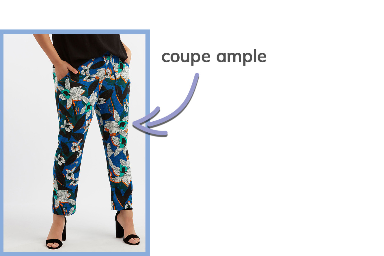 détail des pantalons d'été